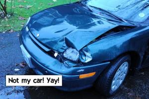 Not my car! Yay!