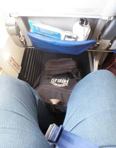 Look at my leg room!