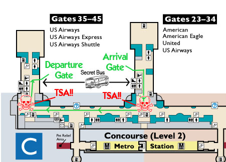 Enhanced terminal map