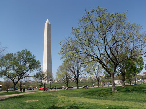 The Washington Monument is on a hill, just not the hill in question