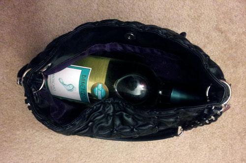 Bottle of wine in my purse