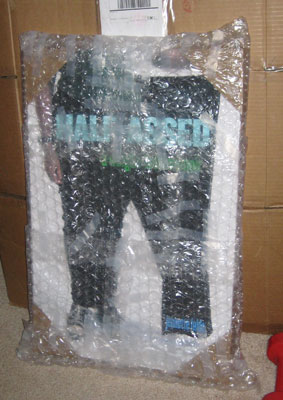 Bubble wrapped signs
