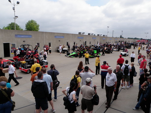 Indy 500 pit row