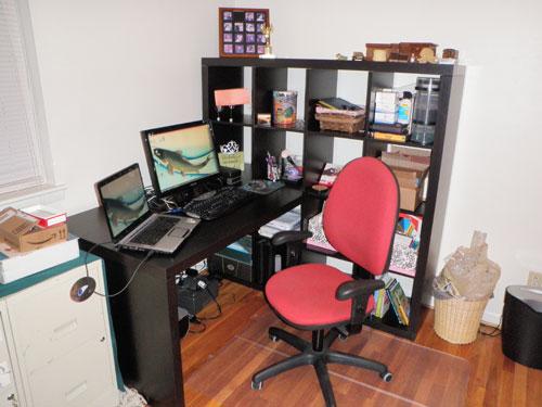 My desk, er, workstation!