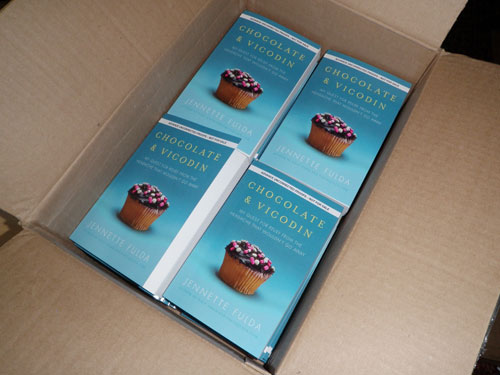 Chocolate & Vicodin galleys (delivered by a serial killer?)