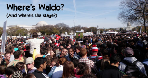 Where's Waldo? (And where's the stage?)