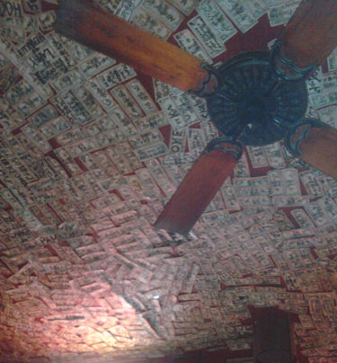Money on the ceiling