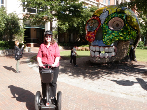 Segway and a skull