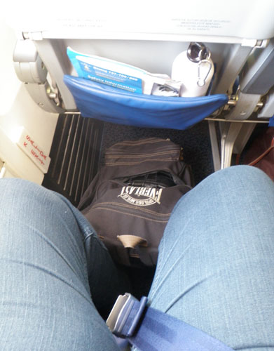 Look at my leg room!