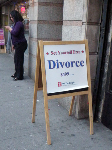 Divorce, a total impulse buy