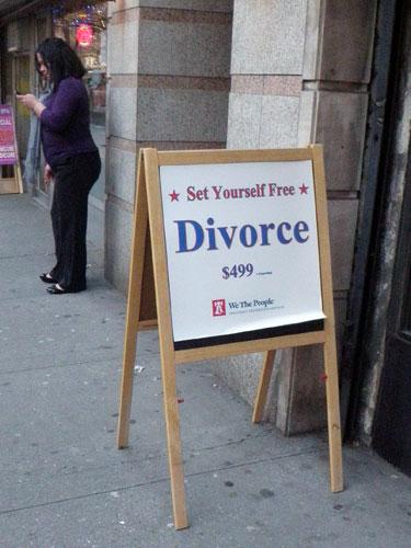 Divorce, a total impulse buy