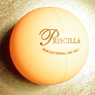 Official Priscilla ping pong ball