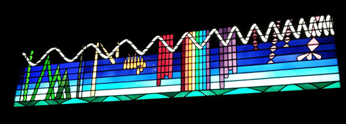 Visable spectrum in stained glass