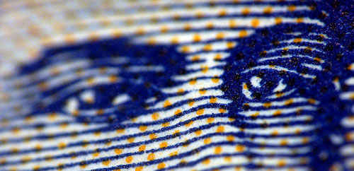 Paper money closeup