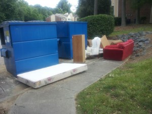 Dumpster furniture set