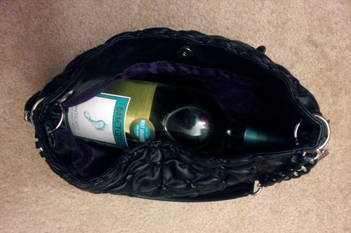 Bottle of wine in my purse