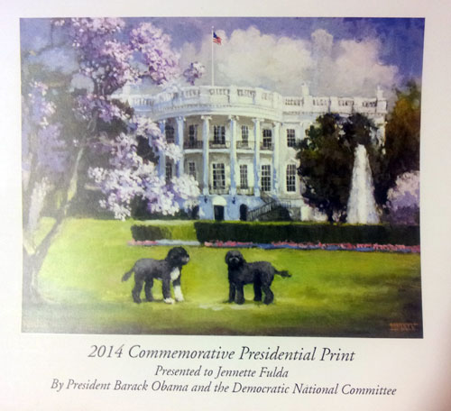 2014 Commemorative Presidential Print