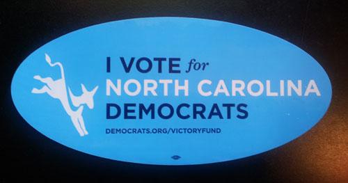 North Carolina Democrats bumper sticker