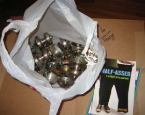 Mysteries of the InterWebs: My book and a bag of doorknobs