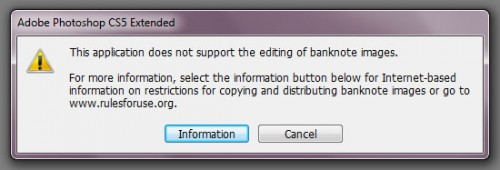 This application does not support the editing of banknote images