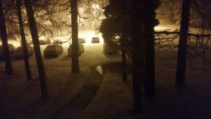 Late night snow