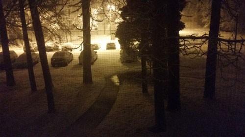 Late night snow