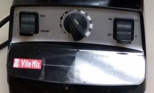 Vita-Mix 5200 controls