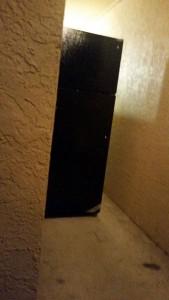 Creepy fridge in the hallway