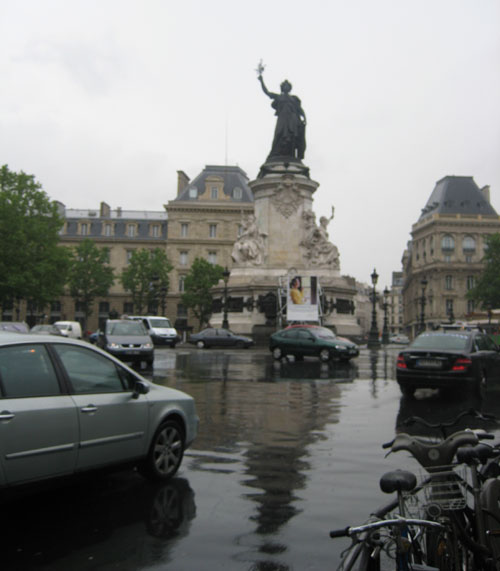 Republique in 2009. Lots more traffic.