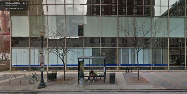 Bus stop on Muhammad Ali Blvd