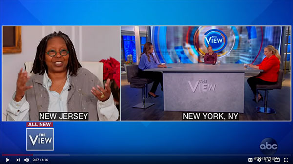 Whoopi hosts The View from home