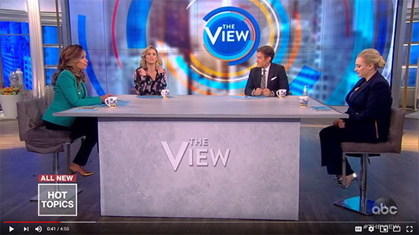 A really large table on The VIew