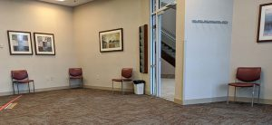 Socially distanced waiting room