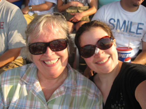 PQ and PQ's mom rockin' the Journey concert