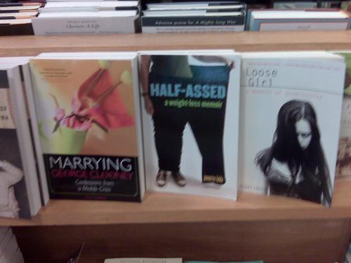 Half-Assed on the bookshelf